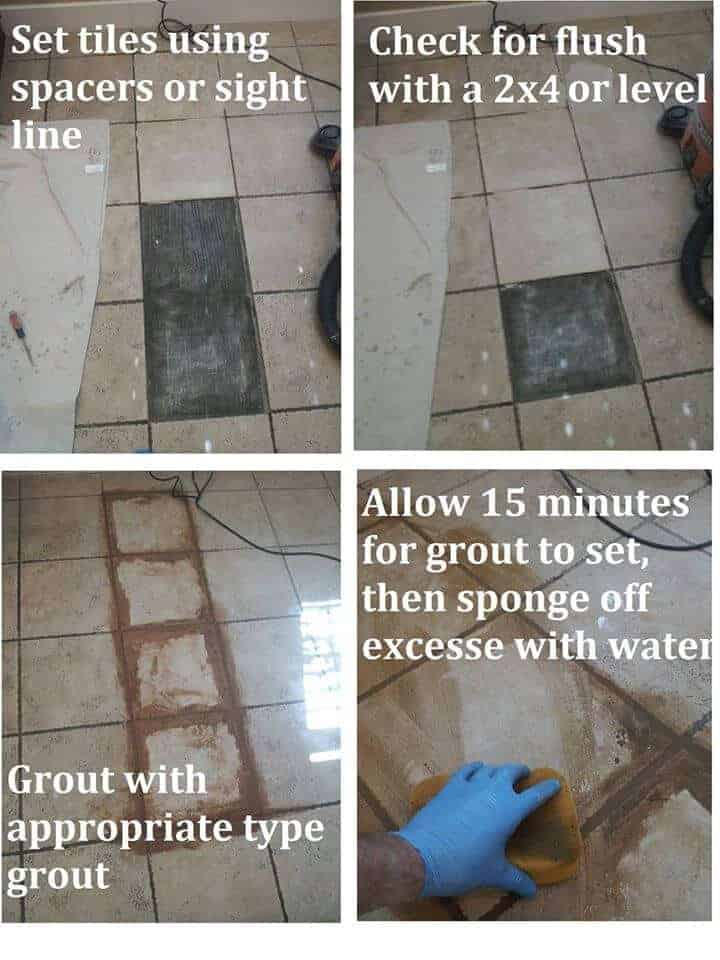 How To Replace Ceramic Tile On Floor Appleby Cleaning