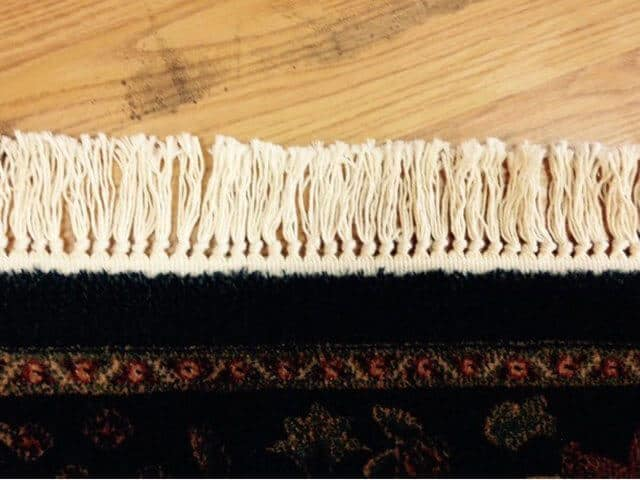 Area Rug Fringe Repaired
