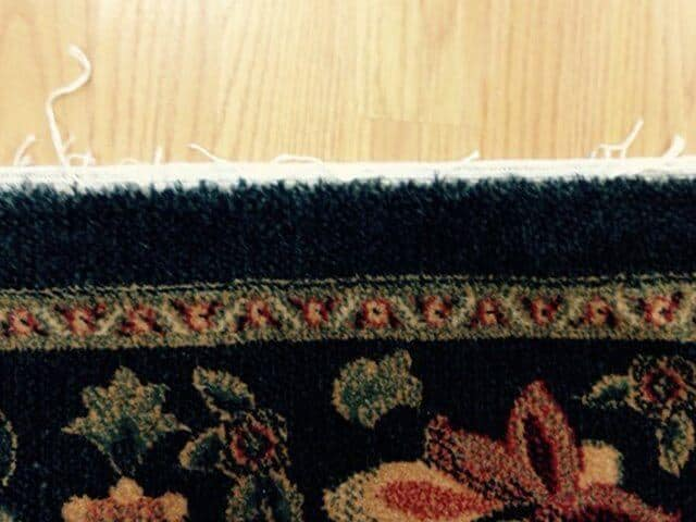 Area Rug Fringe Damaged
